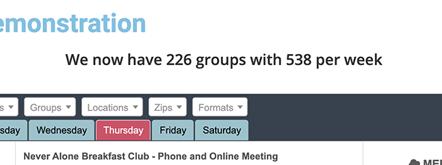 meeting count and group count demonstration