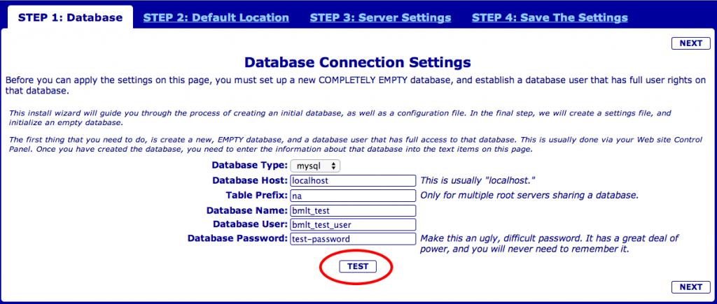 BMLT Server Test Database